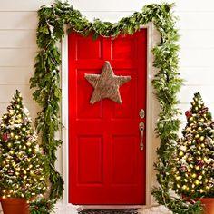 Red Christmas Door Design Decor