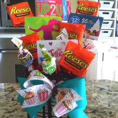 Gift card candy gram bouquet diy gift cards card candy and gram negle Choice Image