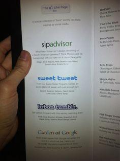 social cocktails. love it.