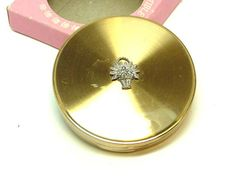 Margaret Rose  Compact Vintage 1950s Gold Tone by thejewelseeker