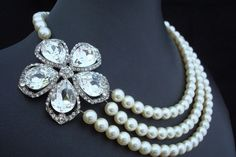 Another necklace with pearls and some sparkle
