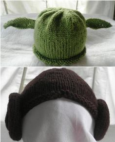 Hand knitted Yoda/Leia/Boba Fett baby hats for Star by TeabeaKnits Baby Presents, Twin Boys, Princess Leia, For Stars, Baby Wearing, Baby Hats, 6 Years, Hand Knitting, Cute Babies