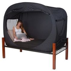 Privacy pop up for your dorm room. I could have used one of these back in the day