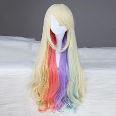 VOCALOID MAYU Long Wavy Synthetic Multi-color Anime Cosplay Wig – USD $ 49.99