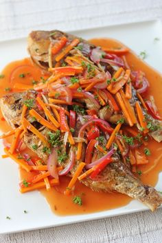 Sweet and sour fish (pinoy or spanish style