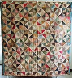 dutch quilt cat: antique quilt
