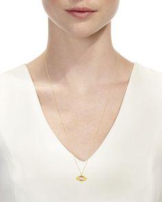Legend Amrapali 18k Kundan Vintage Evil Eye Pendant Necklace, 24