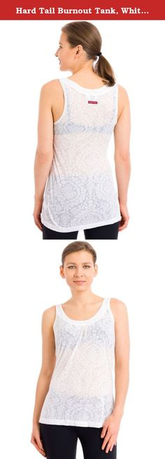 Hard Tail Burnout Tank, White, Medium. This Hard Tail Burnout Tank is stylish and perfect for warm weather. Product Features: Burnout tank Stylish pattern Hard Tail logo tab on back Preshrunk Made in the U.S.A 50% polyester, 50% rayon.