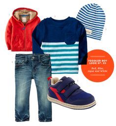 Boy Toddler Clothes: Toddler Boy Inspiration Board #05: Red, Blue, Aqua and White Outfit from The Kids' Dept.