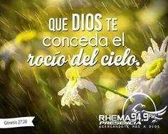 Él te bendecirá con el rocío del celo. Génesis 27:28 Movie Posters, Movies, Reyes, Biblical Quotes, Biblia, Sky, Thoughts, Jesus Christ, Film Poster