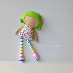 Shop for doll on Etsy, the place to express your creativity through the buying and selling of handmade and vintage goods. Tiny Dolls, Soft Dolls, Cute Dolls, Fabric Toys, Paper Toys, Baby Sewing Projects, Bear Doll, Sewing Dolls, Doll Accessories
