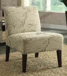 Reece BEIGE Wood Accent Chair