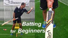 Batting for Beginners - Cricket Batting Tips - YouTube