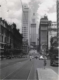 Avenida São João, anos 1950.