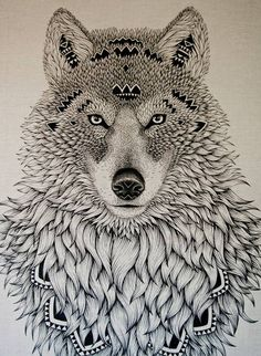 Magazine - alex and marine in 2019 drawings dessin tatouage, Doodles Zentangles, Zentangle Patterns, Mandalas Painting, Mandalas Drawing, Illustrations, Illustration Art, Wolf Tattoo Design, Tattoo Wolf, Wolf Spirit