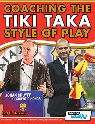 Jed Davies outlines in detail the Tiki-Taka football philosophy popularised by Barcelona and Spain and shows you, the coach, how to implement this style of play. Davies has studied the methods used at FC Barcelona, Liverpool FC, Swansea City FC, Villarreal CF and AFC Ajax who have all developed possession based philosophies as a way of controlling and winning games.
