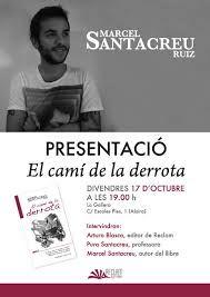 Presentación del primer poemari de Marcel Santacreu.