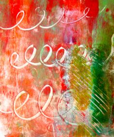 I later foiled and glittered this gelli print, quilted it and donated to the Alzheimer's Art Quilt Initiative. www.alzquilts.org