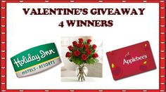 Valentine's Giveaway - 4 Winners ends 1/18/13