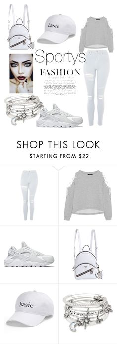 """""""Follow for more I follow back"""" by jasmine-stepter on Polyvore featuring Topshop, W118 by Walter Baker, NIKE, GUESS, SO and Alex and Ani"""