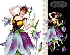 French Flower Fairy Bellflower Fleur by weatheredMagnolia on Etsy