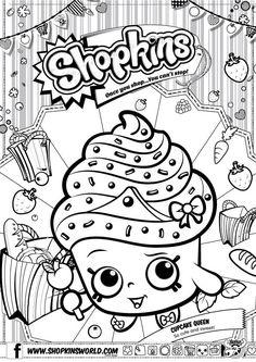 Shopkins Coloring Pages Season 1 Cupcake Queen