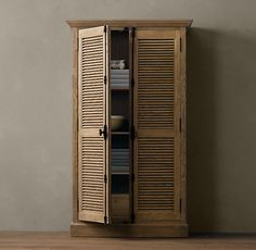 Shutter Cabinets - Instead of the one unit for the mudroom.  Use this and build the bench and hook area.