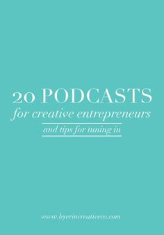 20 Podcasts for Creative Entrepreneurs Build a purposeful brand with these podcasts for creative business owners. Business Advice, Business Entrepreneur, Business Planning, Online Business, Business Meme, Startup Entrepreneur, Social Entrepreneurship, Business Opportunities, Marketing Website