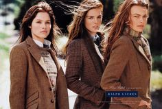 Ralph Lauren, Blue Label, Fall 2003. Kicking off my RL board w/my all-time favorite RL campaign photo piece by renowned Bruce Weber (exclusive photographer for Abercrombie & Fitch). I've always enjoyed RL since teen, but now I find RL pleases me more in a way A&F fails to,now,for me. Hilary Rhoda in middle has always captivated me. She also modeled for A&F. Anyway,I like the general RL style represented in this pic. And reminds me always of Fall,Ivy League,Northeastern American style,prep…