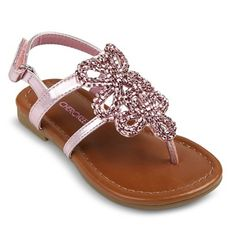 Toddler Girl's Cherokee® Jumper Thong Sandals - Assorted Colors - Pink