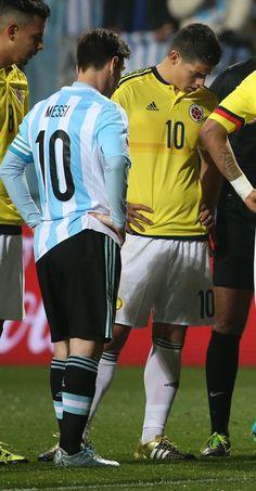 James &  Messi . Colombia vs Argentina . Copa América Chile 26.6.15