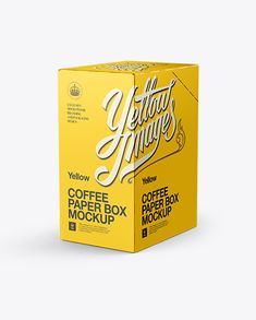 Coffee Paper Box Mockup - Back 3/4 View. Preview