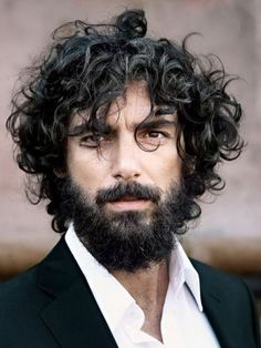 Curly Beard Styles, Best Curly beards To Deal With A Curly Beard,Cool Beard Styles for Men in Cool Beards And Hairstyles For Men, beard style Beard Styles For Men, Hair And Beard Styles, Curly Hair Styles, Beards And Hair, Curly Hair Men, Long Hair Beard, Thick Hair, Beard No Mustache, Haircuts For Men