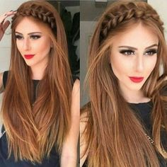 The Latest Idea of The Evening Hairstyle 2018 Fashionable chic hairstyles have the ability to create a main accent in an elegant image and allow you to make the images for the evening amazing and so magical. And do not hesitate, trendy and f. Side Braid Hairstyles, Chic Hairstyles, Bride Hairstyles, Straight Hairstyles, Evening Hairstyles, Hair 2018, Hair Looks, Hair Trends, Bridesmaid Hair