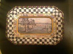 Mackenzie Childs MacLachlan Luncheon Plate | eBay