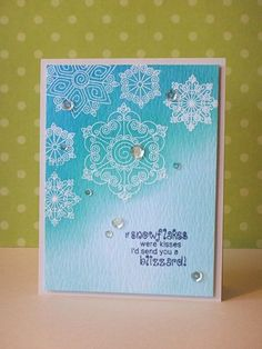 Snowflake Card by Donna Mikasa for Newton's Nook Designs | Beautiful Blizzard Stamp Set