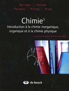 Manuel présentant les trois principales disciplines de la chimie : la chimie physique, la chimie inorganique et la chimie organique. Il comprend un rappel des concepts-clés, et de nombreux renvois entre les trois disciplines. L'approche de la chimie organique est mécanistique.