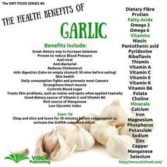 SIRT FOOD SERIES #6 Garlic is one of the most powerful dietary supplements you can take. The nutritional properties have been understood for 1000's of years and has been a mainstay of traditional #medicine. Science is now proving this ancient wisdom to be very accurate. I take 2 cloves of #RAW Garlic every day. Don't worry about the smell if prepared and swallowed correctly you will avoid the dreaded garlic breath and gain all the powerful benefits. It's also very easy to grow try it and…