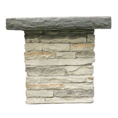 Stacked Stone Gray Umbrella Stand Table MODEL #59 TAB15GSS