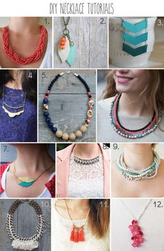 12 DIY Necklace Tutorials - part of a huge roundup of 51 DIY Jewelry Tutorials!