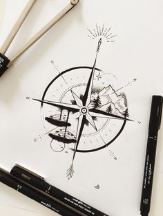 Waves in top left quadrant, mountains in top right quadrant nature tattoo Melissa Mancini ☾ ( Bild Tattoos, Cute Tattoos, Body Art Tattoos, Small Tattoos, Heart Tattoos, Diy Tattoo, Fake Tattoo, Tattoo Wave, Tattoo Ideas