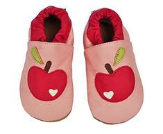 Tipsie Toes Baby Soft Sole 100 Genuine Leather Shoes Pink  Red Apple 06 month 108