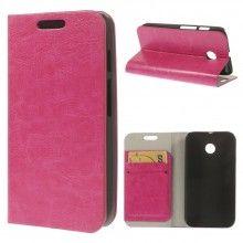 Buchdesign Tasche für Motorola Moto E Simple Cover Rosa 8,99 €