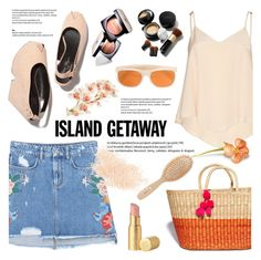 """Chic Island Getaway"" by helenevlacho ❤ liked on Polyvore featuring MANGO, Alice + Olivia, Chanel, Elizabeth Arden, RetroSuperFuture, Too Faced Cosmetics, Meraki, Eve Lom, contestentry and islandgetaway"