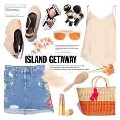 """Chic Island Getaway"" by helenevlacho ❤ liked on Polyvore featuring MANGO, Alice + Olivia, Chanel, Elizabeth Arden, RetroSuperFuture, Too Faced Cosmetics, Meraki, Eve Lom, contestentry and islandgetaway"