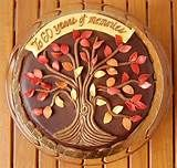 Autumnal Family Tree birthday cake - top view | Flickr - Photo Sharing ...