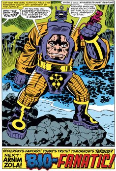 first appearance Arnim Zola, Captain America Jack Kirby Comic Book Artists, Comic Artist, Comic Books Art, Kirby Character, Character Creation, Comic Character, Comic Book Panels, Comic Book Covers, Hq Marvel
