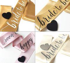 Custom bachelorette sash gold sash pink sash ivory by HopStudio