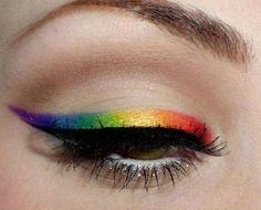 #rainbow #makeup #lgbtq