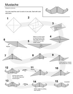 Origami Instructions Mustache By Cahoonas On DeviantART